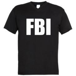 Купити Чоловічі футболки з V-подібним вирізом FBI (ФБР)