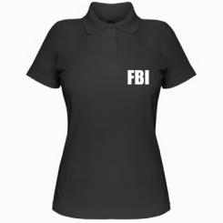 Купити Жіноча футболка поло FBI (ФБР)