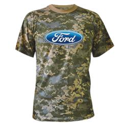 Камуфляжна футболка Ford 3D Logo