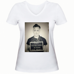Жіноча футболка з V-подібним вирізом FreeSentsov