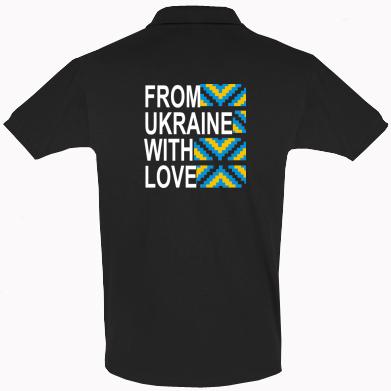 Футболка Поло From Ukraine with Love (вишиванка)