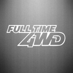 Наклейка Full time 4wd