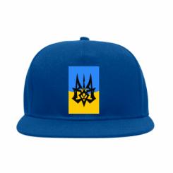 Снепбек Герб на фоні прапора України