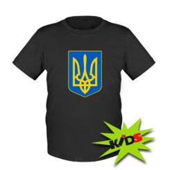 Купить Детская футболка Герб неньки-України