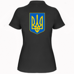 Купити Жіноча футболка поло Герб неньки-України