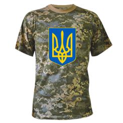 Купити Камуфляжна футболка Герб неньки-України