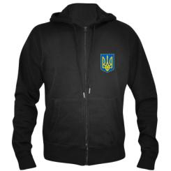 Купити Чоловіча толстовка на блискавці Герб неньки-України