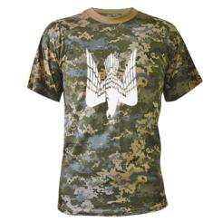 Камуфляжна футболка Герб-сокіл