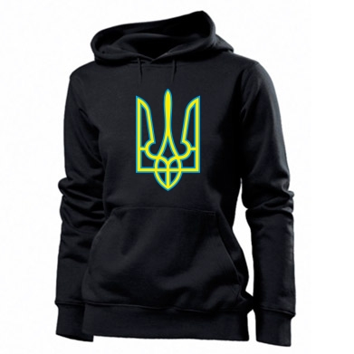 Толстовка жіноча Герб України (двокольоровий)