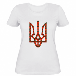 Купити Жіноча футболка Герб України з маками