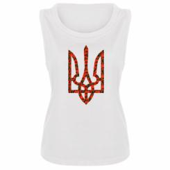 Купити Майка жіноча Герб України з маками