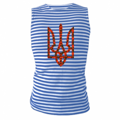 Майка-тільняшка Герб України з маками