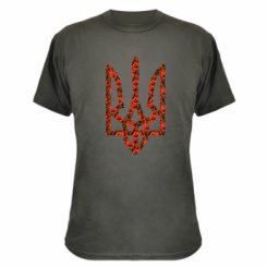 Купити Камуфляжна футболка Герб України з маками