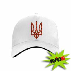 Дитяча кепка Герб України з маками