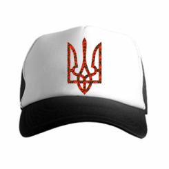 Кепка-тракер Герб України з маками
