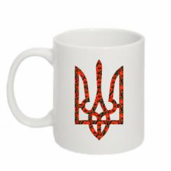 Купити Кружка 320ml Герб України з маками