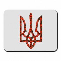 Купити Килимок для миші Герб України з маками