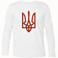 Купити Футболка з довгим рукавом Герб України з маками