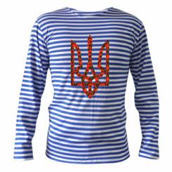 Купити Тільник з довгим рукавом Герб України з маками