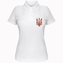 Купити Жіноча футболка поло Герб України з маками