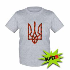 Купити Дитяча футболка Герб України з маками