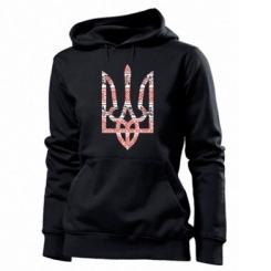 Толстовка жіноча Герб України з національніми візерунками
