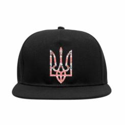 Снепбек Герб України з національніми візерунками