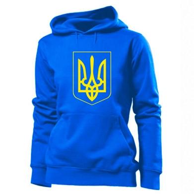 Толстовка жіноча Герб України з рамкою