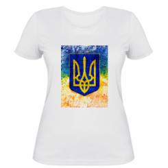 Жіноча футболка Герб України колір