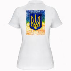 Жіноча футболка поло Герб України колір