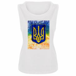 Майка жіноча Герб України колір