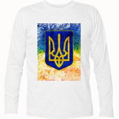 Футболка з довгим рукавом Герб України колір