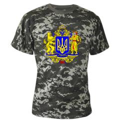 Камуфляжная футболка Герб Украины полноцветный