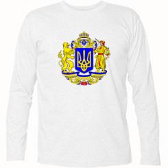 Купити Футболка з довгим рукавом Герб України повнокольоровий