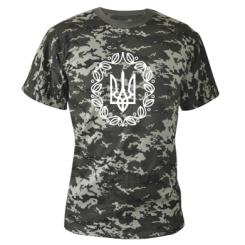 Камуфляжна футболка Герб України