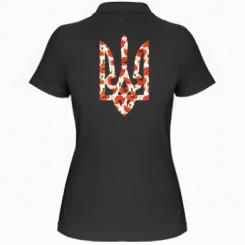 Купити Жіноча футболка поло Герб в маках