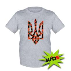 Купити Дитяча футболка Герб в маках