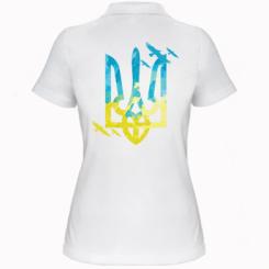 Жіноча футболка поло Герб з птахами