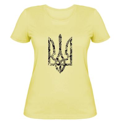 Купити Жіноча футболка Герб з візерунками