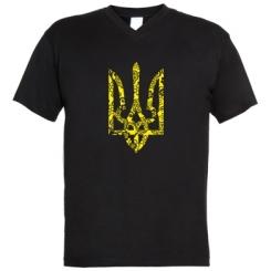 Купити Чоловічі футболки з V-подібним вирізом Герб з візерунками
