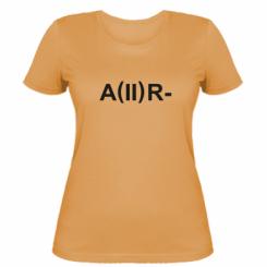 Жіноча футболка Група крові (2)А-