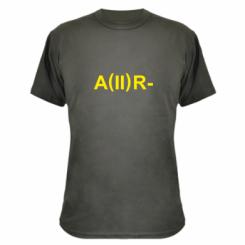 Камуфляжна футболка Група крові (2)А-