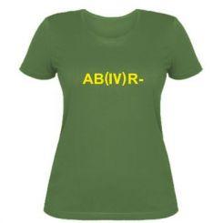 Жіноча футболка Група крові (4) АВ-