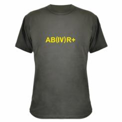 Камуфляжна футболка Група крові (4) АВ +
