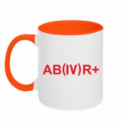 Кружка двокольорова Група крові (4) АВ +