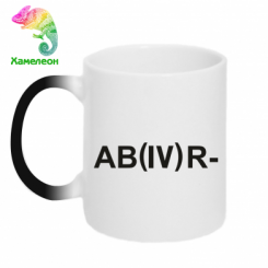 Кружка-хамелеон Група крові (4) АВ-