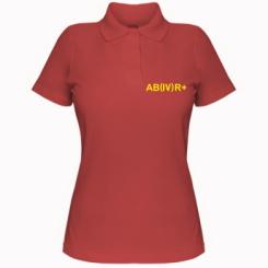 Жіноча футболка поло Група крові (4) АВ +