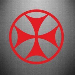 Наклейка Грузинський Хрест