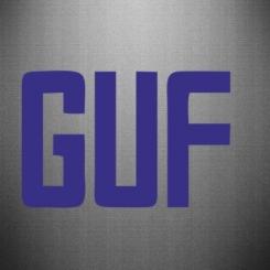 Наклейка GUF