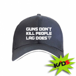 Дитяча кепка Guns don't kill people, lag does